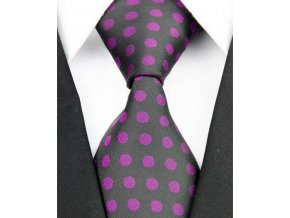 Hedvábná kravata černá NT0193