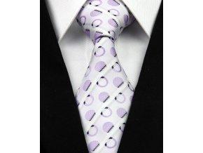 Hedvábná kravata bílá NT0215