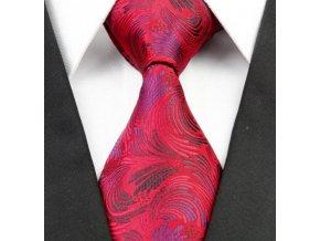Kašmírová hedvábná kravata červená NT0252