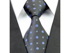 Hedvábná kravata černá NT0268
