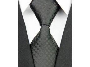 Hedvábná kravata černá NT0034
