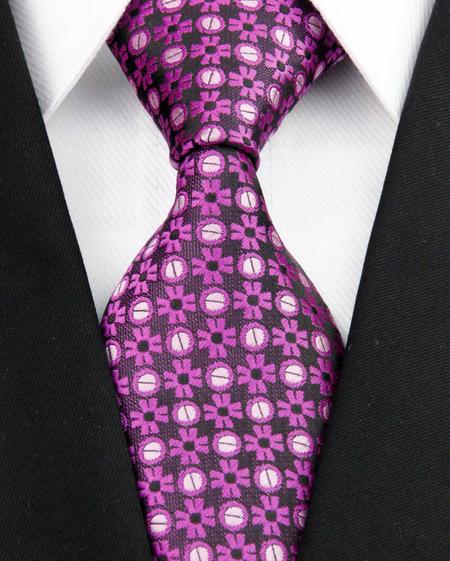 Hedvábná kravata fialová NT0199