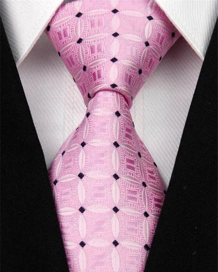 Hedvábná kravata růžová NT0149