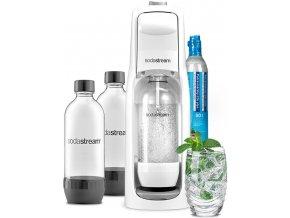 set vyrobnik sody sodastream jet white lahev duopack 1l
