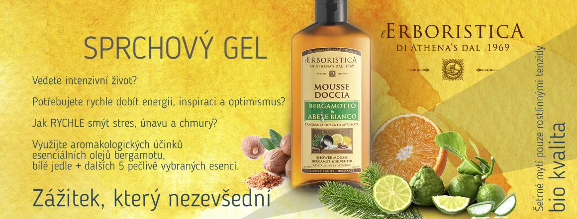 Erboristica přírodní sprchový gel s esenciálními oleji