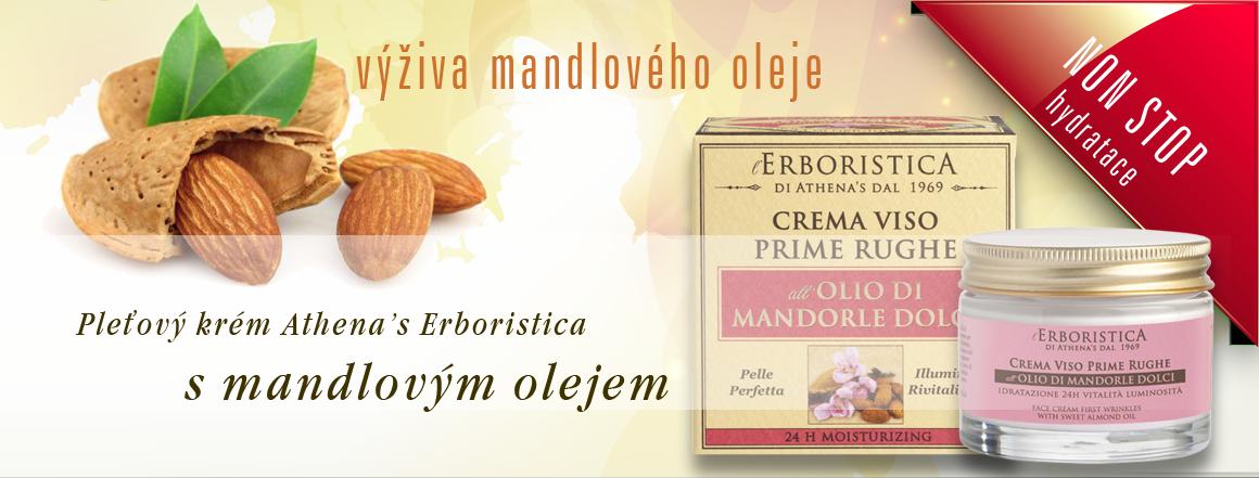 Athenas Erboristica pleťový krém s mandlovým olejem