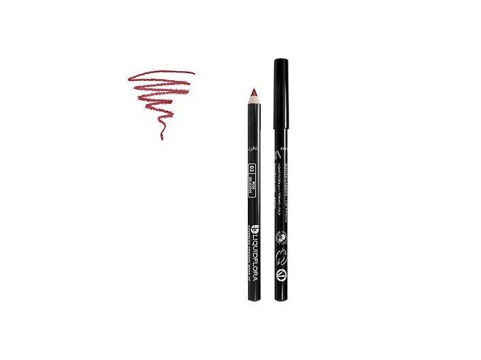 Bio konturovací tužka na rty LIP DEFINER LIQUIDFLORA - ROSE DELICOUS-02