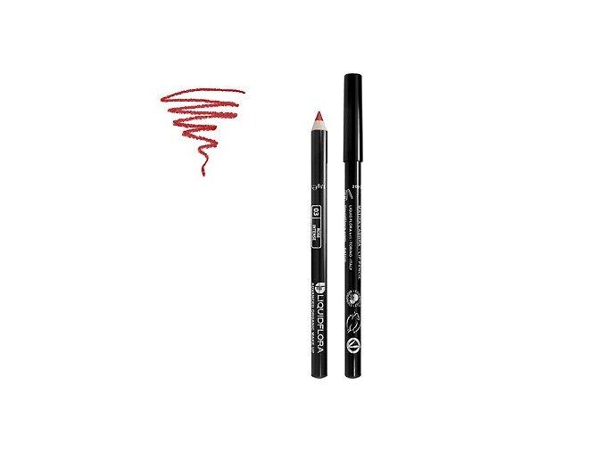 Bio konturovací tužka na rty LIP DEFINER LIQUIDFLORA - ROSE INTENSE- 03