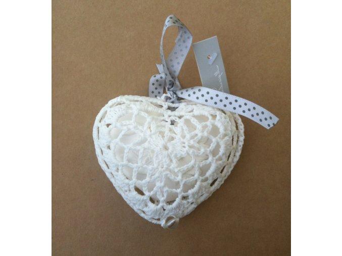 Il Giardino di Flo Parfémované srdce v háčkovaném obalu
