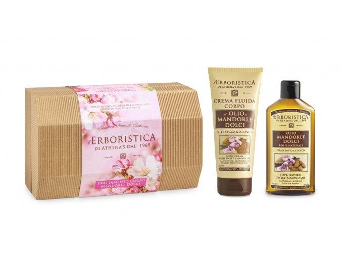 Athena's Papírový box mandlový tělový olej+tělový krém