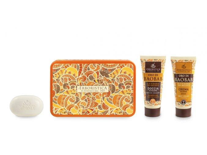Athena's Kosmetická sada baobab sprchový gel+tělový krém+mýdlo