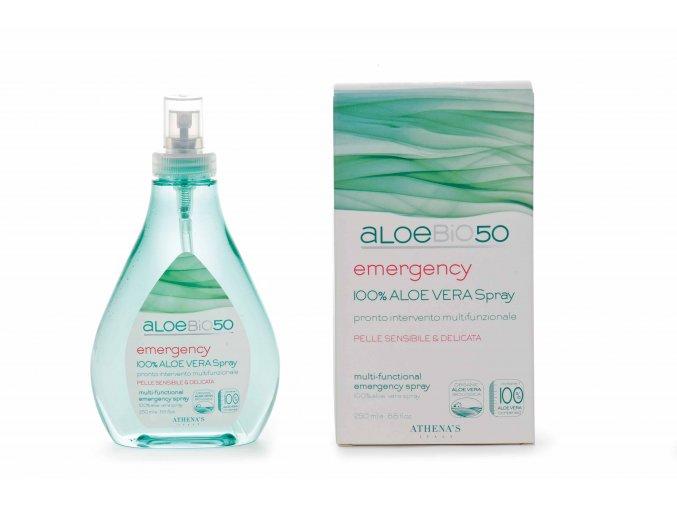 Athena's AloeBio50 Aloe vera spray první pomoci 250 ml+pleťové mléko 150 ml