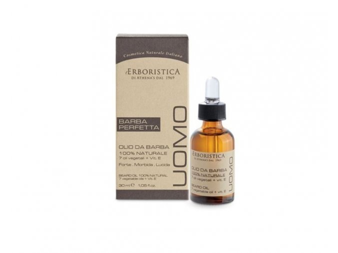 Erboristica UOMO Výživný olej na vousy s vitamínem E 30 ml