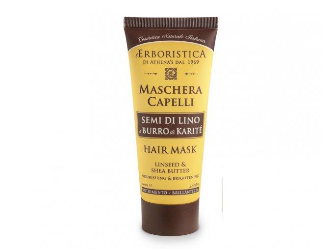 T248 maska na vlasy se lněným olejem