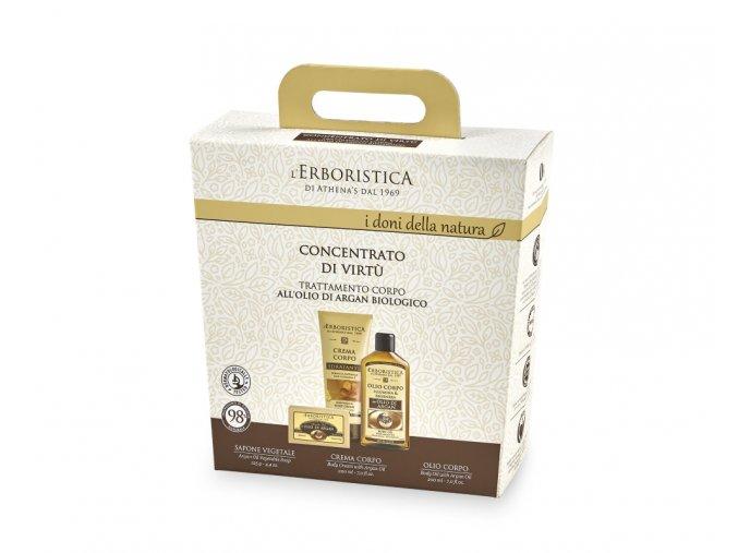Athena's Kosmetická sada tělový krém, tělový olej a přírodní mýdlo s arganovým olejem v dárkovém balení
