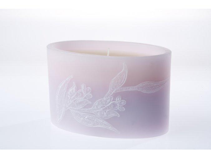 EDG Italia svíčka s květinovým dekorem
