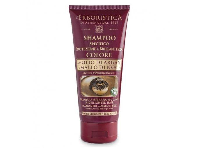 Athena's Erboristica Šampon na tmavé a barvené vlasy s arganovým olejem 200 ml