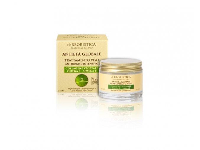 Erboristica Global anti-age denní krém s rostlinným kolagenem a Omega 3 a Omega 6 kyselinami 50 ml
