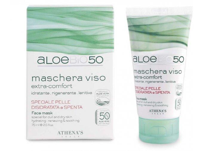 Athena's AloeBio50 Pleťová maska pro suchou a povadlou pleť 75 ml