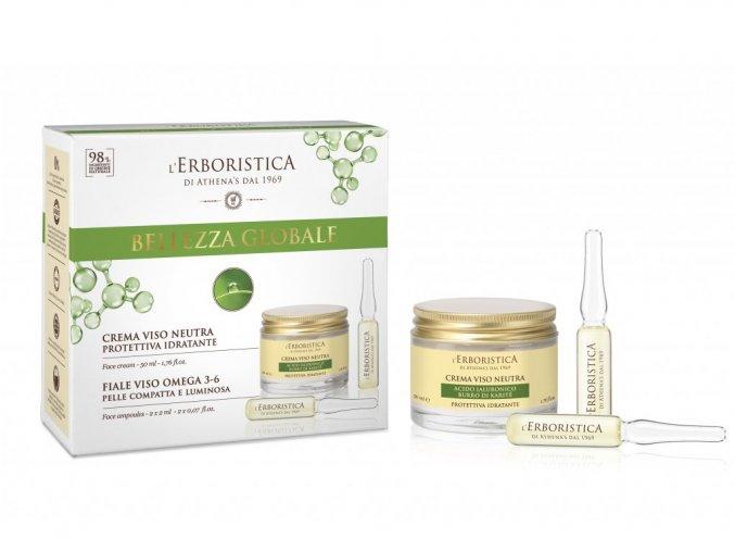 Erboristica kosmetická sada hydratační pleťový krém, pleťové sérum 2ks