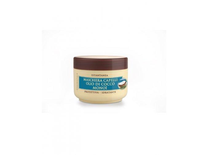 Erboristica Instantní maska na suché a poškozené vlasy s kokosovým olejem a monoi 200 ml