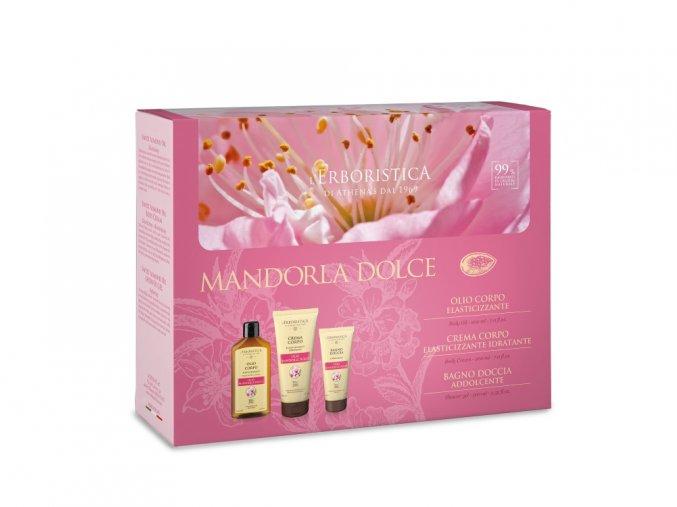 Erboristica Kosmetická sada s mandlovým olejem - Mandlový olej 200 ml + Tělový krém 200 ml + Sprchový gel 100 ml