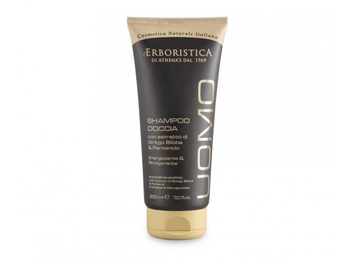Athenas Erboristica Uomo Sprchový gel a šampon pro muže povzbuzující 200 ml