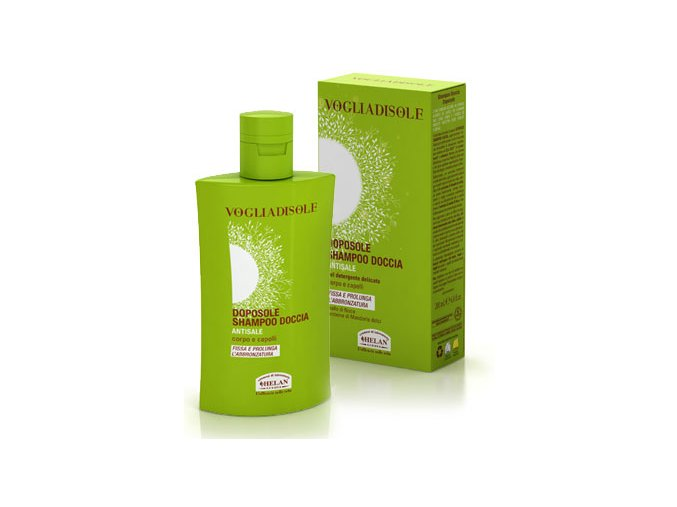 HELAN Sprchový gel a šampon v jednom po opalování 200 ml