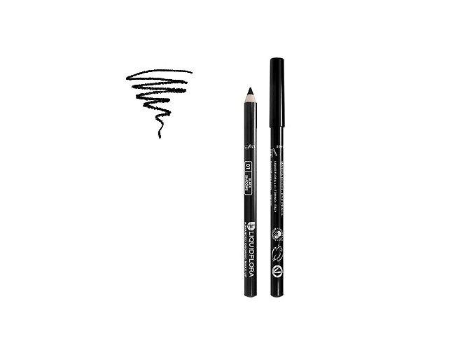 Bio tužka na oči EYE DEFINER LIQUIDFLORA - BLACK SHADOWS 01