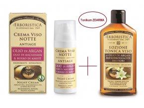 Athenas Erboristica Noční krém anti-age s makadamiovým olejem 50 ml+ ZDARMA tonikum
