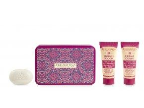Athena's Kovový box s macadamiovým olejem sprchový gel+tělový krém+mýdlo
