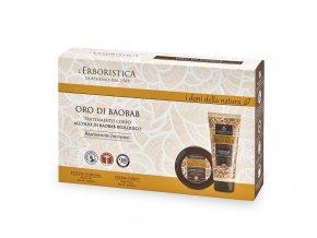 Athena's Kosmetická sada Tělový krém a sprchový gel parfémovaný s baobabovým olejem v dárkovém balení