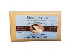 Athenas Erboristica Mýdlo s rýžovým škrobem pro děti 125 g