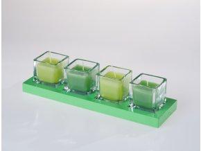 EDG Italy sada svíček ve skle 4 ks