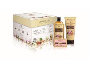ERBORISTICA Mandlový olej box: tělový olej 200 ml+ tělový krém 200 ml+ rostlinné mýdlo 125 g