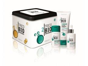 TricoBio Deep repair box: reparační vlasový šampon 125 ml + kondicionér 200 ml + vlasové sérum 125 ml