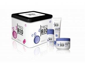 TricoBio Perfect curls box: šampon na kudrnaté vlasy 125 ml + vlasová maska 200 ml +  sérum na kudrny 125 ml