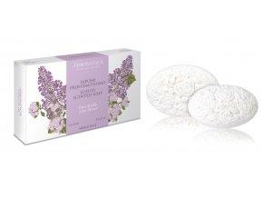 Erboristica dárkové balení dekorační parfémované mýdlo s šeříkovou vůní 2x150 g
