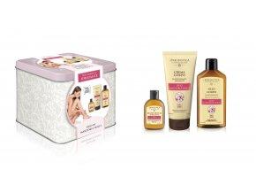 Erboristica Sada tělový olej mandlový, tělový krém a sprchový gel 200 ml+200 ml+60 ml