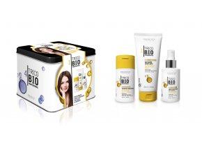 Erboristica TricoBio hydratační sada na vlasy s kyselinou hyaluronovou - šampon 100 ml+kondicionér 200 ml+sérum 125 ml