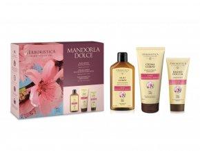 Erboristica Kosmetická sada tělová péče s mandlovým olejem 3 ks