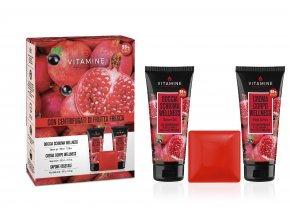 VITAMINE WELLNESS kosmetická sada Sprchový gel 200 ml+tělový krém 200 ml+tuhé mýdlo 100 g
