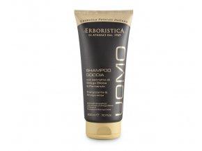 Erboristica Uomo Sprchový gel a šampon pro muže povzbuzující 200 ml