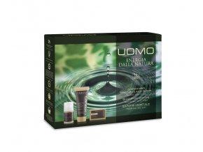 Erboristica Kosmetická sada pro muže UOMO - Pleťový krém proti vráskám 50 ml + Sprchový gel a šampon 200 ml + Tuhé mýdlo 125 g