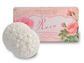 ATHENA'S Dvě přírodní mýdla s růžovým olejem 2 x 100 g