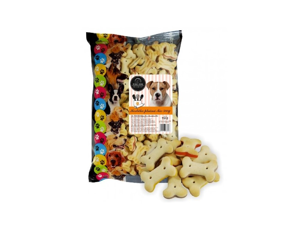 FINE DOG Bakery kostičky MIX Snack 500g