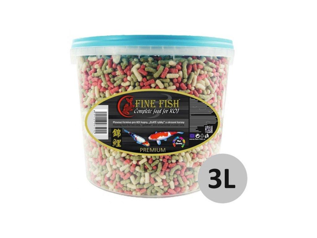 FINE FISH KOI Sticks 3 litry vědro