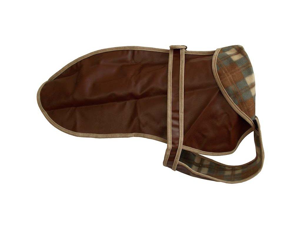Kabátek umělá kůže 46cm
