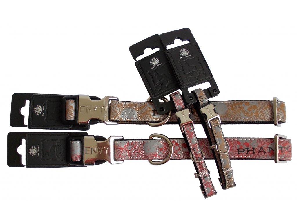 Obojek PHANTOM reflexní 25mm x 48-70cm