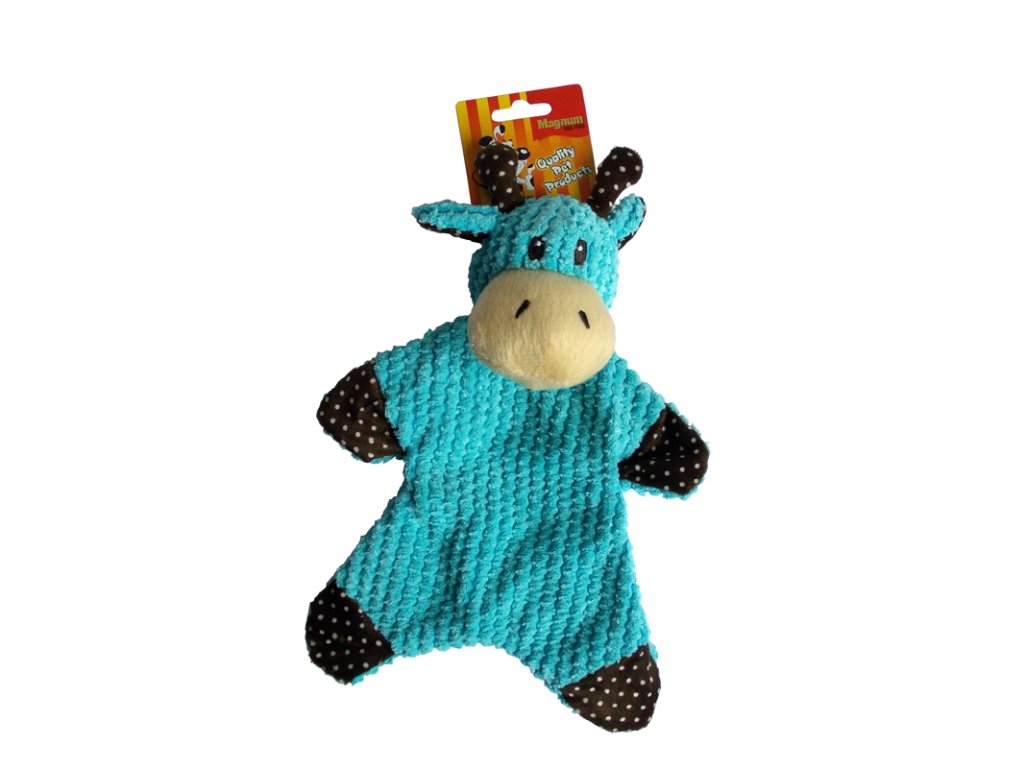 Modrá kráva plyš 34x23cm